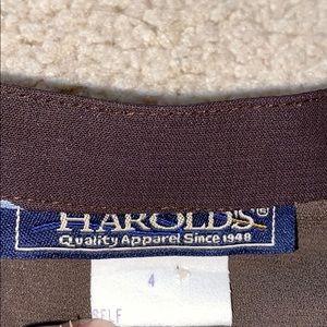 Harold's Skirts - Dark brown full length skirt